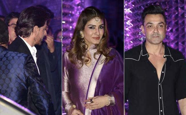 Shah Rukh Khan, Bobby Deol, Raveena Tandon And Others Attend Azhar Morani's Sangeet Ceremony. See Pics
