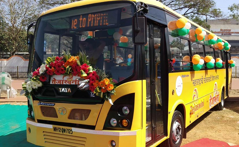 Tata Motors Delivers 6 Buses To Pune Transport Corporation Customised For Women Commuters