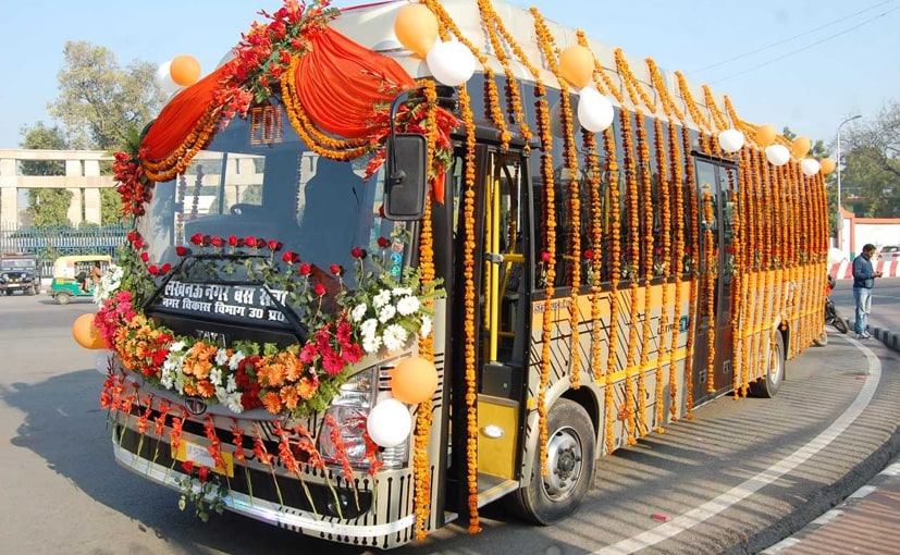 The Tata Ultra 9m electric bus uses an integrated electric motor with 330 bhp of peak power