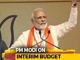 "Video : ""Important Step To Strengthen Nation,"" Says PM Modi On Interim Budget"