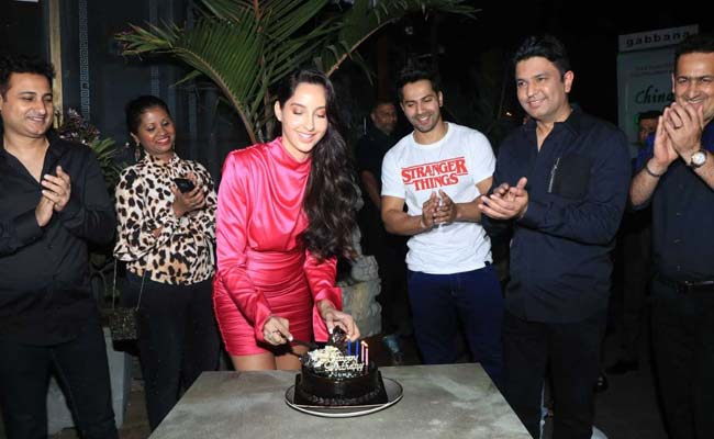 Nora Fatehi Brings In Her Birthday With Varun Dhawan And Others. See Pics