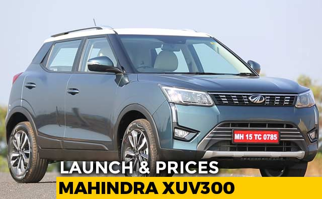 Mahindra Xuv300 Launched Prices