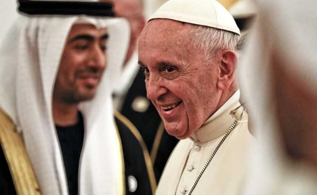 Pope Francis Reaches UAE, First Visit By A Pontiff To Arabian Peninsula