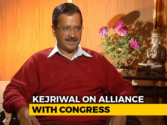 "Video : No ""Mahagathbandhan"" In Delhi, Congress Refused Alliance: Arvind Kejriwal"