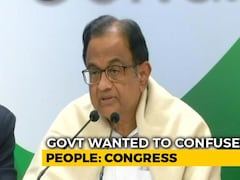 "Video: ""Rs 2,000 For Votes"": P Chidambaram Slams Centre Over Relief To Farmers"