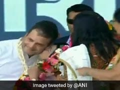 Rahul Gandhi Kissed By Woman At Gujarat Rally On Valentine's Day