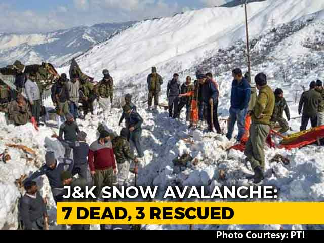 Video : 7 Dead, 3 Rescued After Avalanche In Jammu And Kashmir's Kulgam