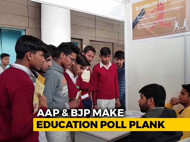 "Video : AAP Takes Politics To Classrooms; BJP Calls It A ""Stunt"", Copies The Model"