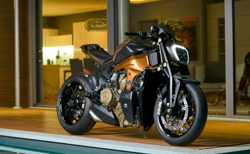 The custome streetfighter based on the Ducati Panigale V4 has been made by a design house