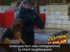 जब कॉमेडियन भारती सिंह के पीछे पड़ गया डॉग, कर डाला कुछ ऐसा हाल- देखें Video
