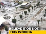 Video : Did It Just Snow Near Delhi? Thick Blanket Of Hail Leaves Noida White