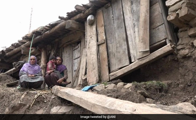 Snowfall, Rain Destroy Houses In Jammu and Kashimr's Udhampur