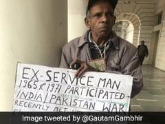 कनॉट प्लेस में भीख मांग रहा था 'पूर्व सैनिक', गौतम गंभीर ने शेयर की तस्वीर, सेना से लगाई मदद की गुहार