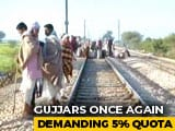 Video : 5 Trains Cancelled, 15 Diverted As Gujjars On Quota Stir Block Tracks