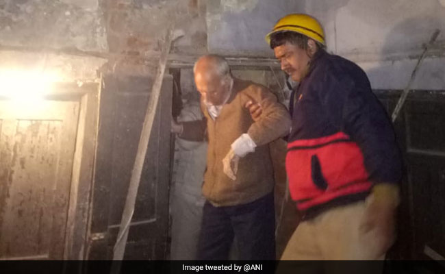 Portion Of Building Collapses In Delhi's Karol Bagh; No Injuries Reported