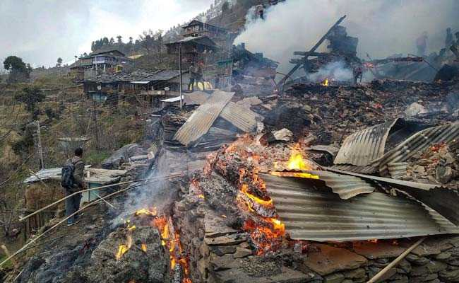 9 Houses Burn Down In Fire In Himachal Pradesh's Kullu