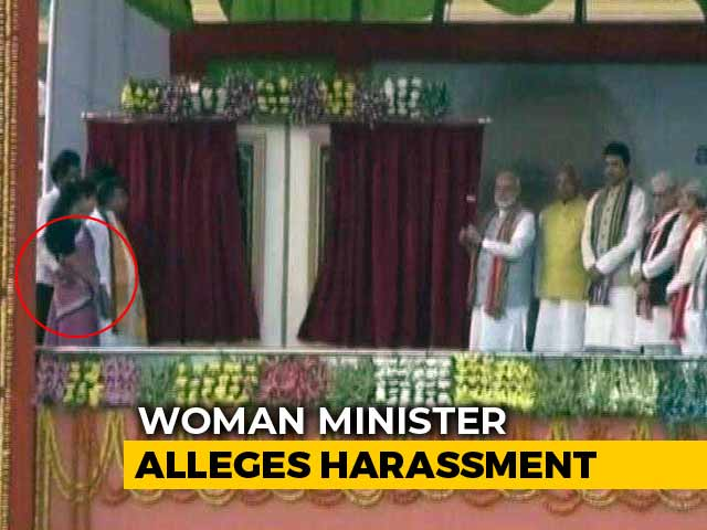 Video : Tripura Minister Seen Groping Colleague On Stage In PM's Presence