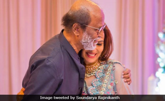 Rajini dances at daughter's sangeet, CM attends wedding