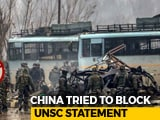 Video : UNSC Pulwama Text Had India's Language Despite China's Protest: Sources