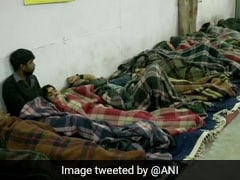 As Cold Wave Intensifies Delhi, Homeless Take Refuge In Night Shelter