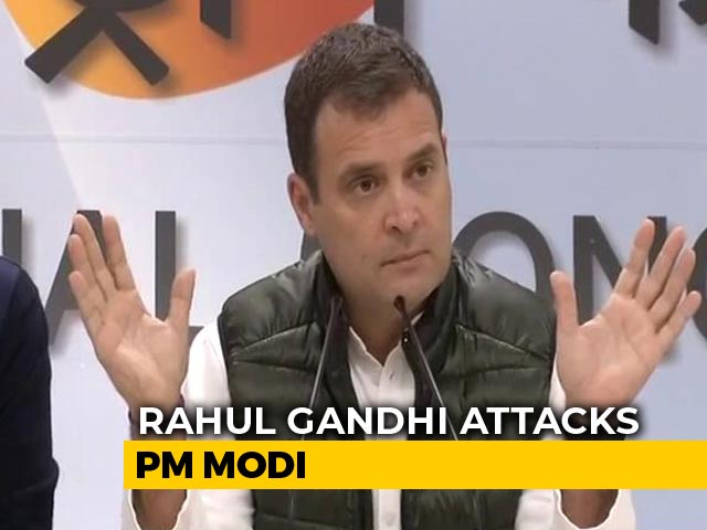 "Video : ""Prime Minister Acting Like Anil Ambani's Middleman,"" Says Rahul Gandhi"
