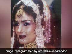 Raveena Tandon As A Bride. On 15th Anniversary, Glimpses Of Her Wedding Album
