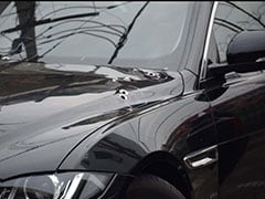 Jaguar Sedan Sprayed With Bullets In Shooting At Delhi's Pitampura