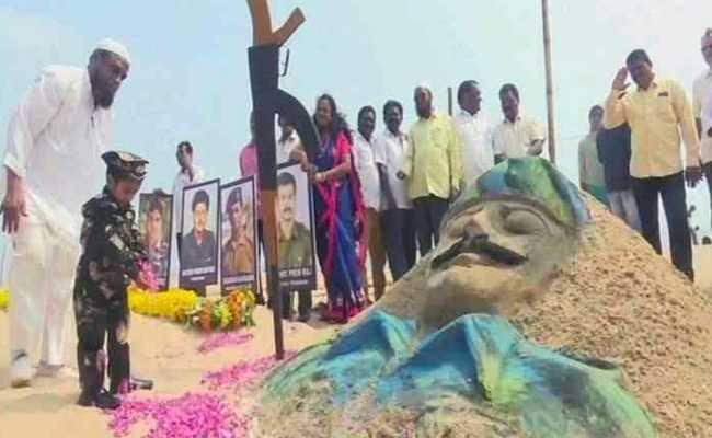 Sand Artists Pay Tribute To CRPF Soldiers Killed In Pulwama Attack