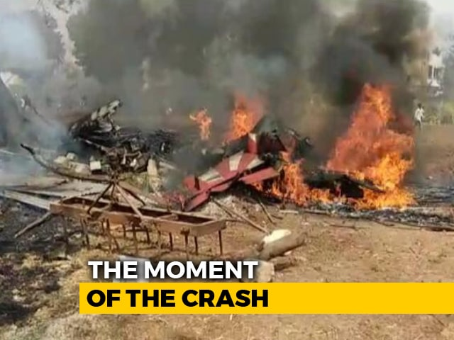 Video : Video: 2 Air Force Aircraft Crash, Plunge Into Bengaluru Neighbourhood
