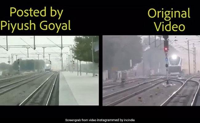 'Lies At 2X Speed': Congress Jabs Piyush Goyal With 'Original' Train Video