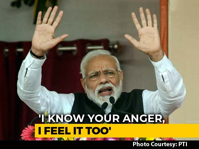 """Video : """"Fire In My Heart..."""": PM Modi's Outrage On Pulwama Terror Attack"""