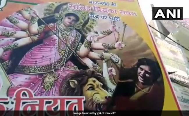 Priyanka Gandhi Vadra Shown As Demon Mahishasura In Poster In UP Town