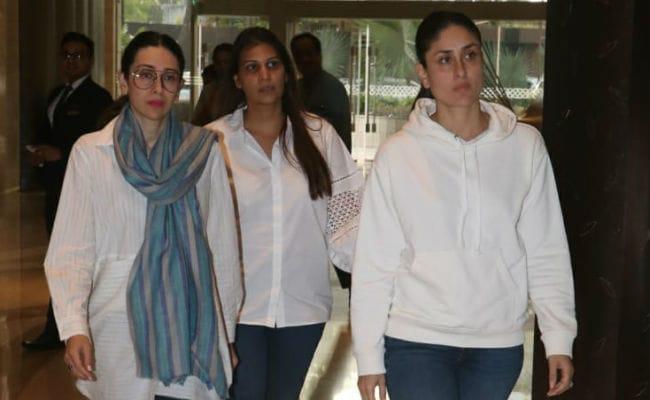 Kareena Kapoor, Karisma, Shweta Bachchan Nanda And Others Attend Vikram Phadnis' Mother's Prayer Meet