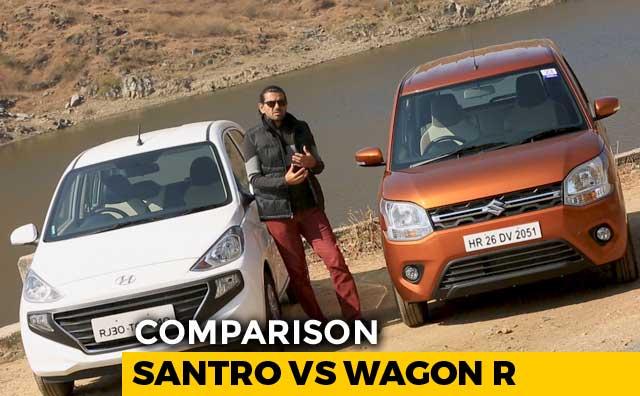 Video : Maruti Suzuki Wagon R Vs Hyundai Santro