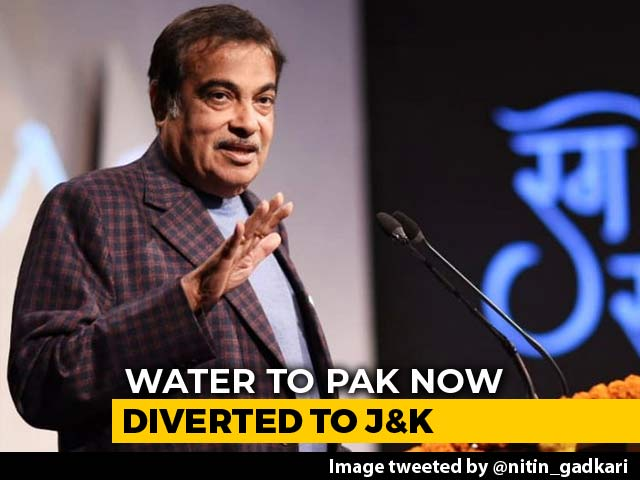 """Video : """"Centre To Stop India's Share Of Water Flowing To Pak"""": Nitin Gadkari"""