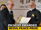 Video : PM Modi, On Visit To South Korea, Awarded Seoul Peace Prize