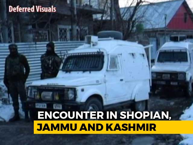 Video : 2 Jaish Terrorists Killed In Encounter In Jammu And Kashmir's Shopian