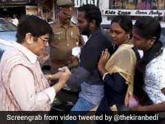 """Where's Your Helmet?"" Kiran Bedi Turns Traffic Cop, Stops Motorists"