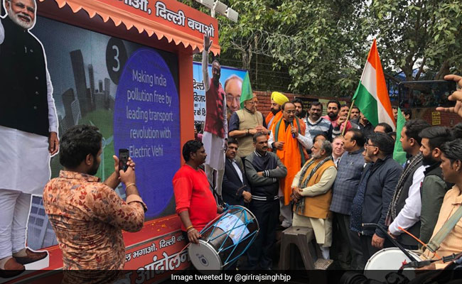 At BJP's ''Kejriwal Bhagao,Delhi Bachao' Campaign, A 'Rath' To Expose AAP's Failures