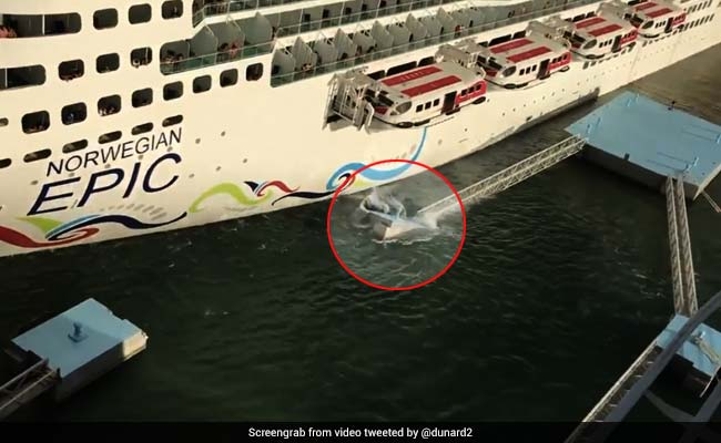 Video: Cruise Ship Destroys Mooring Points After Crashing Into Them