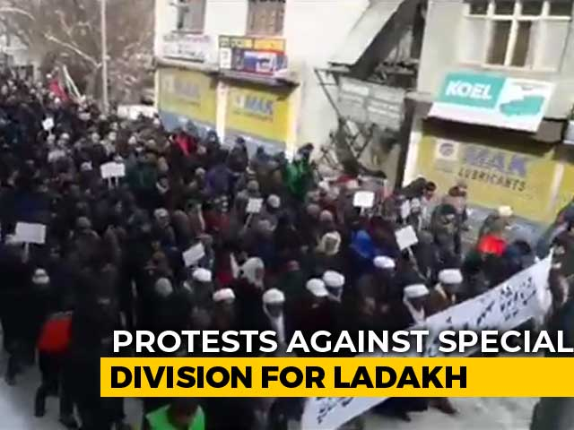 Video : Kargil Residents Brave Bone-Chilling Cold To Protest Centre's Ladakh Division Move