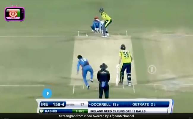 राशिद खान ने 4 गेंद पर लिए चार विकेट, एक के बाद एक डालीं रहस्यमयी गेंदें, देखें VIDEO