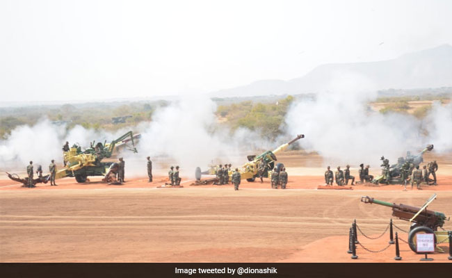 Rocket Display And Artillery Firepower At Army's 'Exercise Topchi'