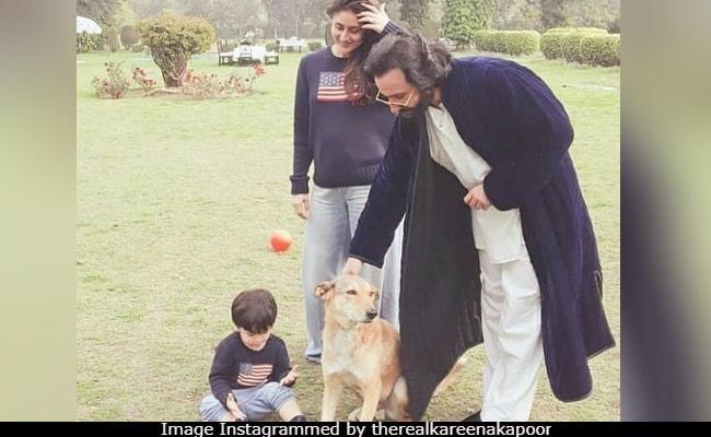 Viral: Kareena Kapoor And Taimur Twinning In Winter Morning Pic With Saif Ali Khan
