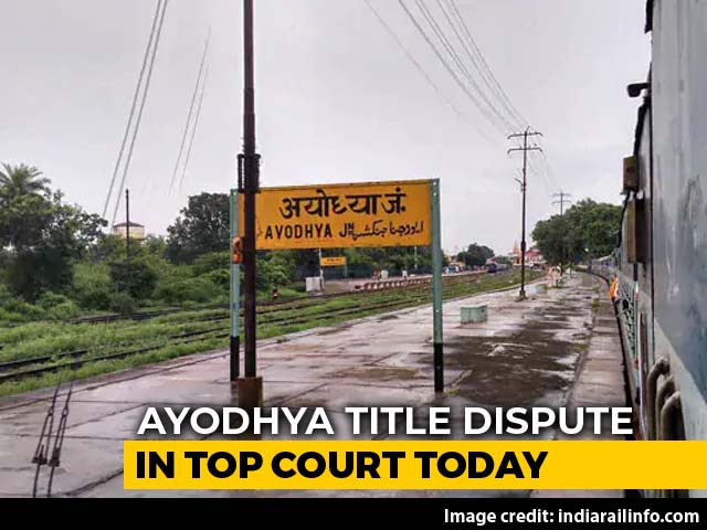 Video : Ayodhya Case In Top Court Today, Judges To Decide Date Of Final Hearing