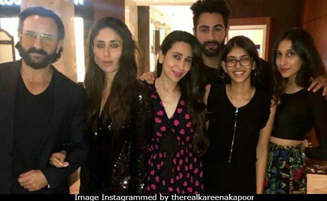 Kapoors In Black: Kareena, Saif Ali Khan, Karisma And Daughter Samiera Make Randhir Kapoor's Birthday A Night To Remember