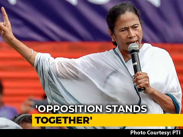 "Video : ""Opposition Stands Together"": Mamata Banerjee On Robert Vadra Questioning"