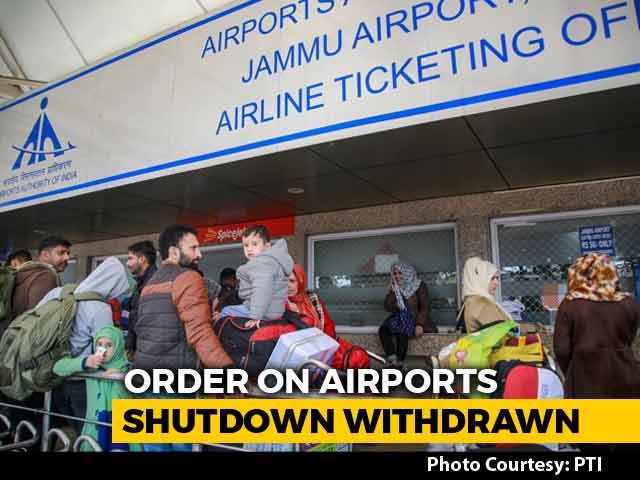 Video : Order On Shutdown Of Airports In North India Withdrawn