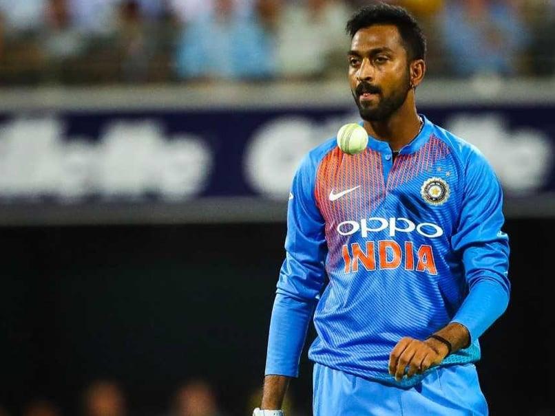 """Scoreboard Pressure"": Krunal Pandya Opens Up On India's Loss In 1st T20I"