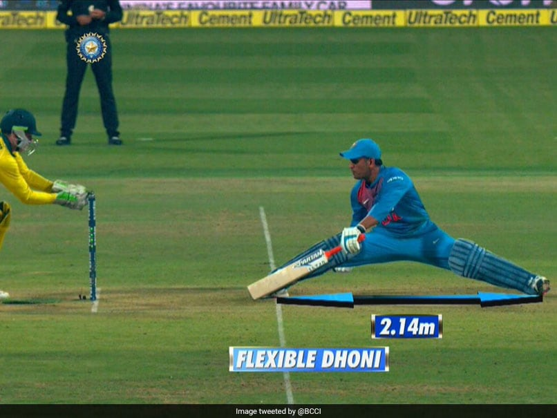 "Watch: ""Flexible Dhoni"", BCCI Applauds MS Dhonis Acrobatic Move During 2nd T20I"
